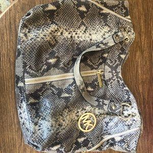 Michael Kors Snakeskin tote